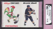 BRETT HULL/Cornelius Chicken, 1994 Kellogg's 2 Card Panel, GAI MINT 9-Very RARE!
