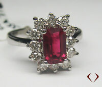 2.42 CTW RUBY & DIAMOND RING  F VS 18K