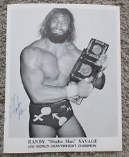MACHO MAN RANDY SAVAGE ICW SIGNED PHOTO VINTAGE AUTOGRAPH AUTO WWE WWF WCW 2