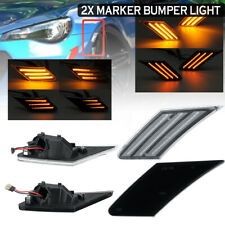 2x Dynamic LED Side Bumper Signal Indicator Light For Subaru BRZ Scion Toyota 86
