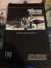 Super Empire Strikes Back Manual (Snes) - Star Wars