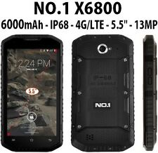Faulyt Negro NO.1 X6800 Dual Sim IP68 impermeable resistente Tough 4G 5.5'