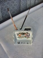 Alte Porzellan China,Tintengefäß/Pinselbehalter,2.H.19.Jh.