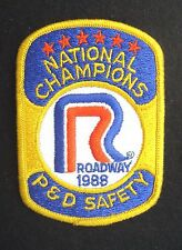 ROADWAY SEW ON PATCH NATIONAL CHAMPIONS P D SAFETY TRUCK 1988 ~ 3