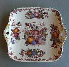 Fruit Basket / Red Multicolor - Mason's - Square Handled Cake Plate *NICE!!*