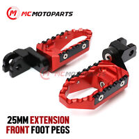 CNC 25mm Extended Rider Large Foot Pegs For Suzuki GSXR 600 1000 750