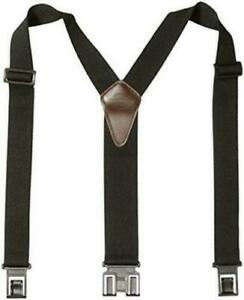 Dickies Black Y-Back Suspenders For Men With Hooks On Belt Loops One Size