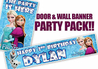 Birthday Door Banner and personalised wall banner - Various designs.