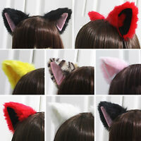Cosplay Fur Fox Cat Ears Hairband Costume Party Girls Headband Hair Hoop Gift