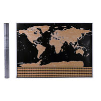 Retro Large Scratch Off World Map Personalized Travel Poster Travel Atlas Decor