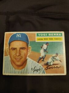 1956 Topps Yogi Berra baseball card #110 New York Yankees VG+