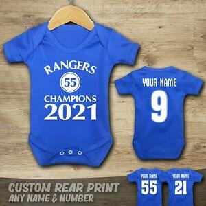 RANGERS - CHAMPIONS - 55 - Baby Vest Suit Grow