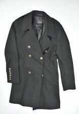 Zara Man Wool Blend Military Pea Coat Overcoat Jacket Limited Edition Mens Sz S