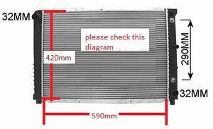 Radiator For Volvo 940 960 90-94 Wide version please check 590mm w x 420mm h New