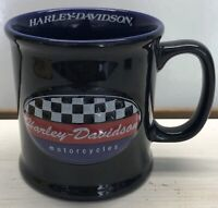 Vintage Harley Davidson Motorcycles Checkered Flag Coffee Mug