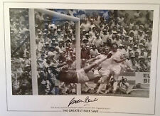 GORDON BANKS - 1966 WORLD CUP WINNER - LARGE GREATEST SAVE SIGNED B/W PHOTO