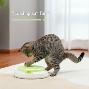 Cat Toy Electronic Rotating Smart Interactive Feather Toy Auto Funny Motion Toy