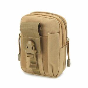Men Tactical Molle Pouch Belt Waist Pack Bag Small Pocket Military Waist Pack