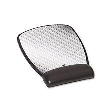 3M Precise Leatherette Mouse Pad w/Standard Wrist Rest 6-3/4 x 8-3/5 Black