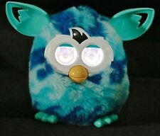 FURBY BOOM PLUSH ELECTRONIC INTERACTIVE TOY AQUA & BLUE WAVES - WORKS GREAT