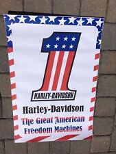 Harley Davidson Vintage  The Great American Freedom Machine Poster