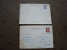 FRANCE - 2 cartes entier (cy80) french
