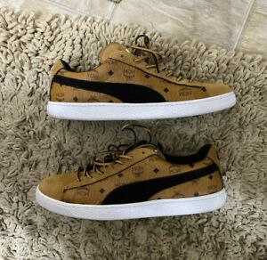 Men's Puma Suede Classic x MCM Sneakers - Size 10 - Brown cognac 366299 01