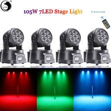 4x 105W RGBW Stage Lighting DJ LED Moving Head DMX512 Disco DJ Party + Remote