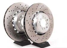 Carisma 1.9DI-D 01-04 Front Rear Brake Discs Black Dimpled Grooved+Mintex Pads