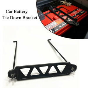 Universal Battery Fixed Bracket Battery Retaining Clamp Tie Down Holder Aluminum