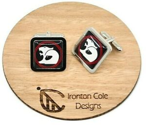 Holden HSV Cufflinks, Square Silver, Black, white and red design