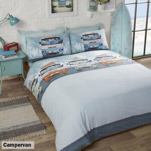 Retro Classic Campervan Duvet Quilt Cover Bedding Set with pillowcases