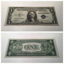 VINTAGE star 1935-A $1 SILVER CERTIFICATE ONE DOLLAR BILL WASHINGTON BLUE VNC