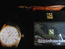 Steinhausen Men's 44mm Automatic Duel Time 18K IP Stainless Steel Watch L@@K!!!