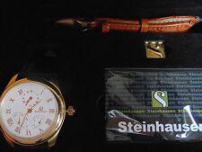 Steinhausen Men's 44mm Automatic Duel Time 18K IP Stainless Steel Watch L@@K!!!