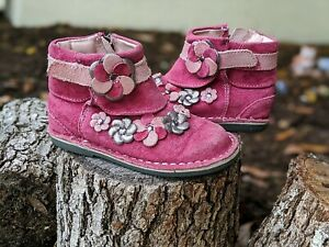 Medallion Collection by Stride Rite Toddler Girls Milania Pink Boots Size US 7 M