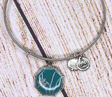 Alex and Ani Narcissus Flower Charm Bangle Silver Bracelet