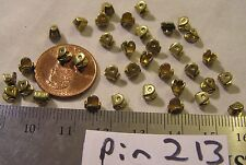 36 Vtg Brass Brooch Pin Mechanism solder closure Craft Repair Jewelry Findings