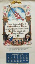 1952 Pledge of Allegiance Flag Patriotic St Paul MN Brown Bigelow Calendar