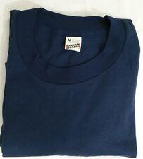 Vtg 70S/80s Screen Stars Blank Navy Blue T Shirt Size M Thin Usa 50/50 DEADSTOCK