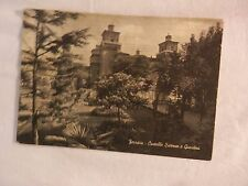 Vecchia foto cartolina d epoca di Ferrara Castello Estensa e giardini di da per