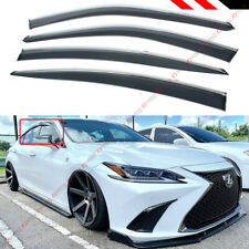 FOR 2019-2020 LEXUS ES300h ES350 VIP CHROME TRIM CLIP-ON WINDOW VISOR RAIN GUARD