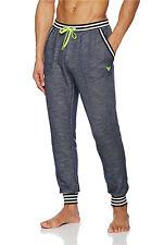 EMPORIO ARMANI EA7 Blue Marl Lounge Pants Joggers Vivid Logo Sizes S-XL BNWT