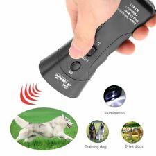 Ultrasonic Dog Chaser Stop Aggressive Animal Attacks Repeller Flashlight Black