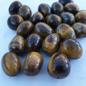 23 Tiger Eye Nugget Beads 20 X 15 mm average size