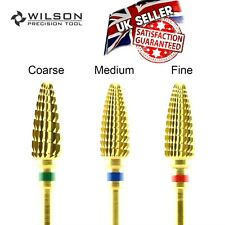 SET OF 3,   Wilson Carbide Nail Cone Drill Bits Large Manicure Pedicure THE BEST