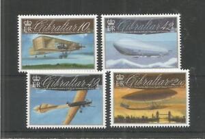 GIBRALTAR 2010 AVIATION CENTENARIES SG,1365-1368 U/MM N/H LOT 8285A