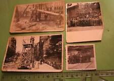 vier tolle alte Fotos - Oldtimer LKW mit komischen Aufbau - Turm ?? 30-50er Jahr