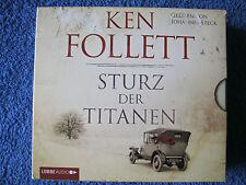 12 CD Hörbuch Ken Follett Sturz der Titanen Gelesen Von Johannes Steck