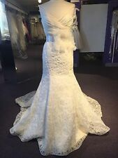 Jim Hjelm #8156 Ivory Floral Organza Bridal Gown Size 10 CURRENT